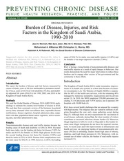 Burden of Disease, Injuries, and Risk
