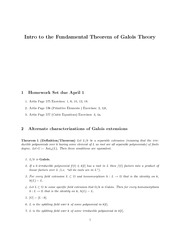 Galois Theory Continued