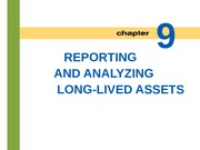 Lecture 8: Reporting and Analyzing Long-Lived Assets