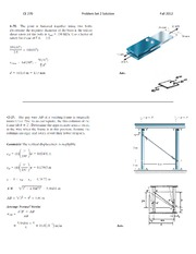 Problem Set 2 Solutions Fall 2012 on Structural Mechanics