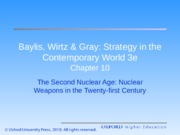 Second nuclear age and weapons