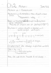 Phys 130 Class Notes- Motion