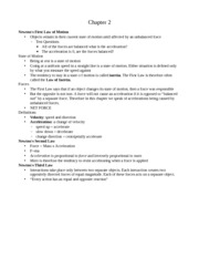 Chapter 2-6 Notes