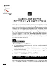 25_Environmental Related Institutions and Organisations