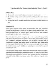 "Experiment_16_The_Wound-Rotor_Induction_Motor â€"" Part I"