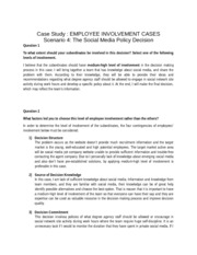 EMPLOYEE INVOLVEMENT CASES