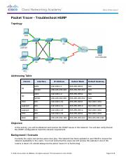 3.4.3.5 Packet Tracer - Troubleshoot HSRP
