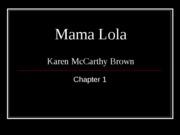 Brown Mama Lola Chapter 1