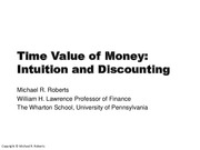 Mod 1 - TVM - Intuition Discounting - White Slides