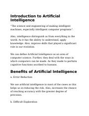 Introduction to Artificial Intelligence.docx