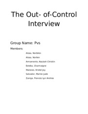 Case #4 the Out- of -Control Interview