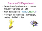 Lecture 6 Notes, Banana Oil Synthesis