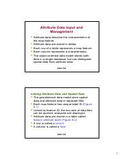 Lecture 5 - Attribute Data