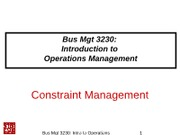 3230Class-07-CH07-Constraint Management