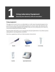 1. Using Laboratory Equipment(1)