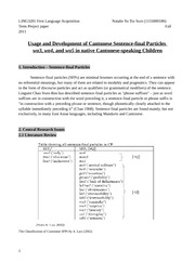 LING3201 Term project paper