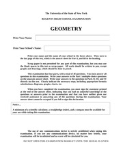 Geometry_Regents_Coverpage_Answer_Sheet
