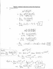 Math 30 Final Exam Take-Home Solutions