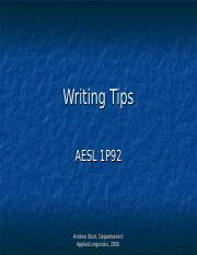 Writing Tips AESL1p92.ppt