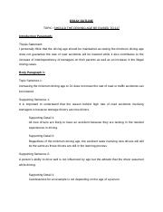 Driving age essay