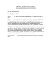 IRAC example, Ball & Sullivan (1) - ANALYSIS Here Ball asked ...