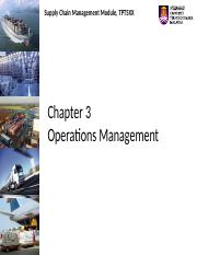 Chapter 3 Operations Management
