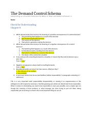 the demand control schema interpreting as a practice profession