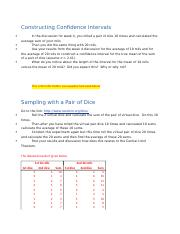 Constructing Confidence Intervals (1)