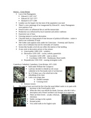 Lecture 9 notes - Gothic England