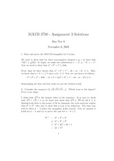 MATH 3790 Fall 2003 Assignment 3 Solutions