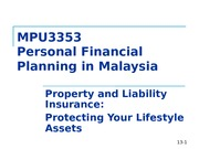 W6. Property and Motor Insuranceppt