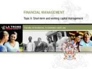 FIN5FMA Lecture 9 (Short-term and working capital management)