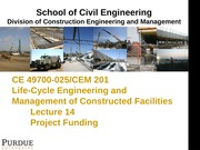 Lecture 14-Project Funding