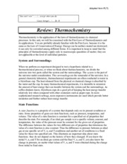 Review-Thermochemistry