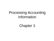 Mgmt 200 Fall 2008 Chap 3 Processing Accounting Information-1