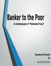 Banker to the Poor_Presentation