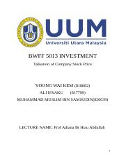 report of investment really final