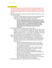 Final Essay Question Study Guide