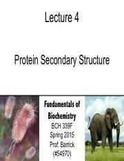 Lecture-4 - Protein Secondary Structure