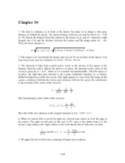 PHY2049 Chapter 34 Solutions