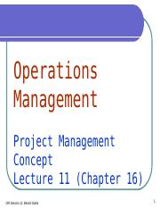 OML11 - Project Management