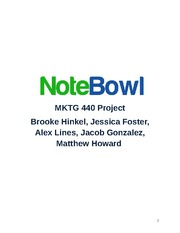 Research Project Final Report: Notebowl