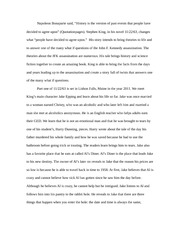 Essay on Stephen King and 11/22/63
