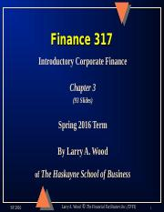 Chapter 3 Finance 317.ppt