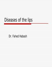 Diseases of the lips