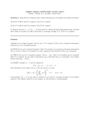 Midterm Exam 3 Fall 2009 Solution on Applied Analysis 1