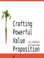 craftingstrongvaluepropositions-120706133010-phpapp01
