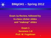 MGT 341 Exam 1a Review