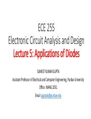 Lecture 0 Pdf Ece 255 Electronic Circuit Analysis And Design