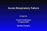 Acute Resp Failure